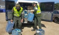 Los Capturados, los vehículos y el combustible aprehendido fueron dejados a disposición de la autoridad competente.