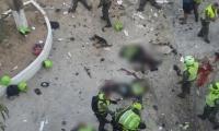Policías muertos en el ataque.