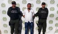 Rubén Enrique Medina Ditta, alias 'Rubén' o 'Tintero', capturado por extorsión.