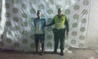 Wilfer Vásquez, presunto ladrón capturado por la Policía.