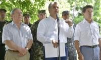 El Presidente Iván Duque al término del Consejo de Seguridad en el municipio de Caucasia.