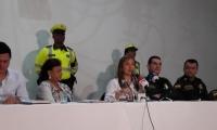 Las autoridades presentaron el plan de seguridad vial para la semana de receso escolar.