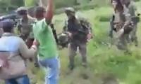 Imagen del momento del enfrentamiento.