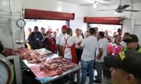 La Alcaldía y la Policía están verificando los expendios de carne.