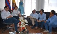 Los empresarios del Aeródromo de Sevillano se reunieron con la gobernadora del Magdalena, Rosa Cotes.