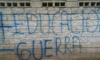 Mensaje pintado en las instalaciones de la Universidad del Magdalena.