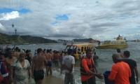 Los ocupantes de un taximarino pasaron un susto por accidente de la embarcación.