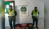 Carne decomisada en El Piñón, Magdalena.