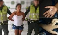 La mujer fue capturada en Ponedera por violencia intrafamiliar.