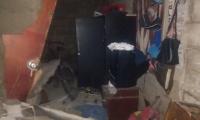 Vivienda colapsada en el barrio San Jorge.