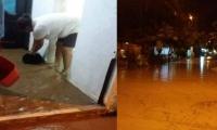 Cabañas de Buritacas, donde el río ha ingresado dos veces, dejando 100 viviendas afectadas y 400 personas en riesgos.