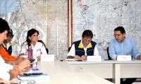 En estos momentos se cumple la reunión con el director de la Unidad Nacional de Gestión del Riesgo, Eduardo Gónzalez.