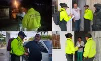 Los capturados por la Policía y el Gaula Militar.