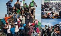 Los inmigrantes van en cualquier vehículo que los lleve o simplemente a pie.