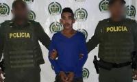 Víctor Ariza De Aguas, de 20 años, fue capturado por la Policía del Magdalena.
