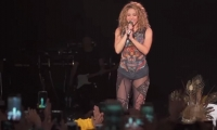 Shakira durante el concierto en Bogotá.