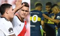 Colombianos de River Plate y Boca Juniors.