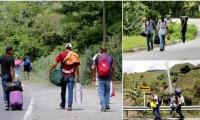 Venezolanos en carreteras de Colombia.