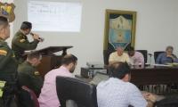 El comandante encargado de la Policía Metropolitana, coronel Diego Vásquez, asistió al Concejo.