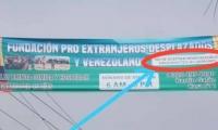 Valla discrimintaria en Bucaramanga.