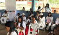 La actividad se basó en resaltar las costumbres de los pueblos indígenas.