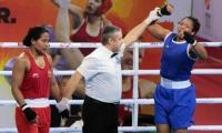 Jessica Caicedo, primera mujer en asegurar medalla para el país en un mundial de boxeo femenino.