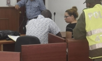 Tivisay Lobo en la sala 7 del Centro de Servicio Judicial.