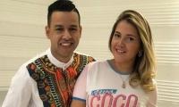 El fallecido Martín Elías y su esposa Dayana Jaimes