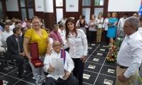 En el evento fueron reconocidos los médicos por su trayectoria en el contexto de su día.