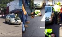 La mujer, al parecer, no tenía papeles del vehículo y decidió huir.