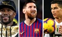 Los 3 deportistas que encabezan la lista de Forbes
