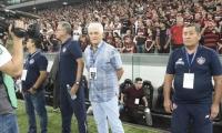 El técnico uruguayo destacó la entrega de sus jugadores.