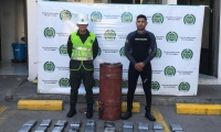 La Policía encontró la droga en el casco de un barco que iba para Holanda.