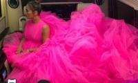J.Lo y su pomposo vestido