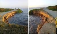La fuerza del río Magdalena está a punto de romper el tramo que conecta al corregimiento de Palermo con el municipio de Sitionuevo.