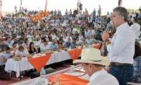 """""""No queremos un país inundado de coca, porque deteriora el ambiente"""", dijo el Mandatario."""