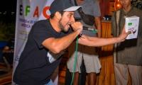 El rapero ´Touk´ durante su presentación.