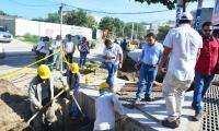 Obras del colector de la carrera 19 entre Avenida del Río y Avenida del Ferrocarril.