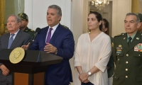 El presidente Iván Duque recibió a la empresaria Melissa Martínez en la Casa de Nariño.