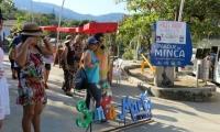 Feria de Emprendimiento en la Plaza principal de Minca