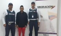 Randy José Vargas Fernández, capturado por Migración Colombia.