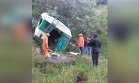 El bus cayó a un abismo de 150 metros.