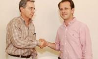 Álvaro Uribe Vélez y Andres Felipe Arias