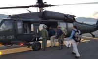 La ubicación del sitio, a más de tres mil metros sobre el nivel del mar, requirió el traslado de un helicóptero del Comando Aéreo desde Ríonegro (Antioquia) hasta la capital del Magdalena para cumplir la misión.