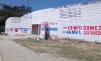 Así se ve la pared del Eduardo Santos.