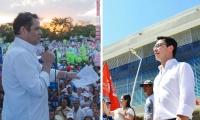 Los aspirantes a la presidencia Carlos Caicedo Omar y German Vargas Lleras.