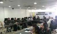 El evento contó con la participación de la Policía Nacional, Secretaría de Salud Departamental, Defensoría del Pueblo y otras entidades.