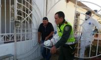 El cuerpo fue llevado a la morgue de Medicina Legal.