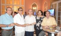 Jorge Mogollón, Jaime Ceballos, Juan Ceballos, Martha de Andréis y Francisco Ceballos.