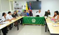 Al evento, asistieron los comandantes de la Policía Departamental   y Metropolitana de Santa Marta, así como del Ejército Nacional, además de delegados de la Registraduria Nacional del Estado Civil en el Magdalena, el defensor Regional del Pueblo y delegados de partidos.